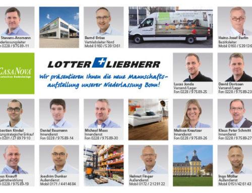 Die neue Mannschaftsaufstellung der Niederlassung Bonn